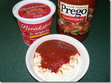 cottage cheese and spaghetti sauce