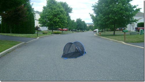 Tent in street