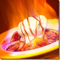 flambed ice cream