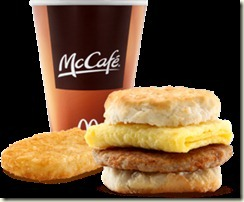 mcdonalds coffee and biscuit