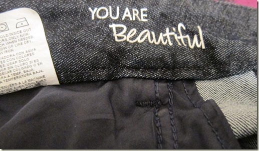 You are Beautiful Lee Jeans